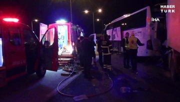 Osmaniye'de yolcu otobüsü TIR ile çarpıştı: 4 yaralı