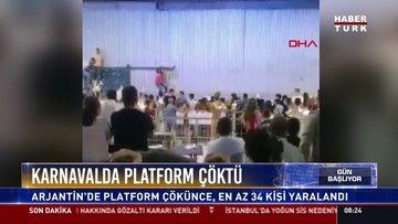 Karnavalda platform çöktü: Arjantin'de platform çökünce, en az 34 kişi yaralandı