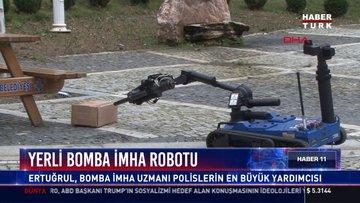 Yerli bomba imha robotu: Ertuğrul, bomba imha uzmanı polislerin en büyük yardımcısı