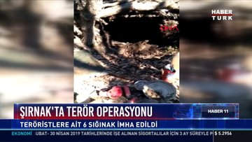 Şırnak'ta terör operasyonu: Teröristlere ait 6 sığınak imha edildi