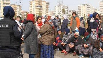 Bağlar'da kadın ve erkek pazarcılar arasında yer gerginliği