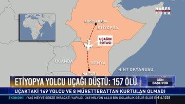 Etiyopya yolcu uçağı düştü: 157 ölü