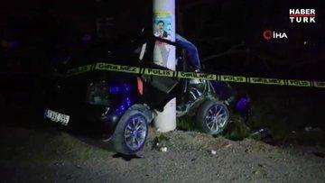Kocaeli'de kontrolden çıkan otomobil direğe çarptı: 1 ölü