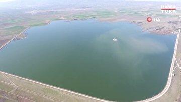Ak pelikanlar Amasya'ya yine erken geldi... Eşsiz manzara havadan görüntülendi