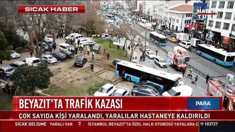Halk otobüsü yayalara çarptı!