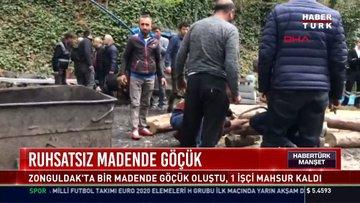 Ruhsatsız madnde göçük: Zonguldak'ta madende göçük oluştu, 1 işçi mahsur kaldı
