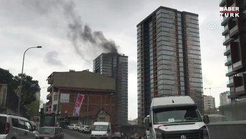 Son dakika: Kadıköy'de inşaat halindeki gökdelende yangın
