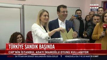 CHP'nin İstanbul adayı İmamoğlu oyunu kullandı