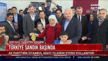 AK Parti'nin İstanbul adayı Binali Yıldırım oyunu kullandı
