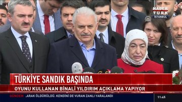 AK Parti Cumhur ittifakı adayı Binali Yıldırım açıklamalarda bulundu