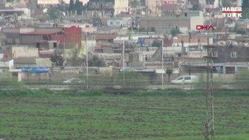 YPG'li teröristlerin Suriye'deki konvoyu görüntülendi!