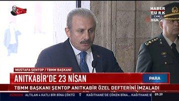 TBMM Başkanı Mustafa Şentop ve beraberindeki devlet erkanı Anıtkabir'i ziyaret etti