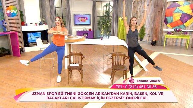 Karın, basen, kol ve bacakları çalıştırmak için egzersiz önerileri