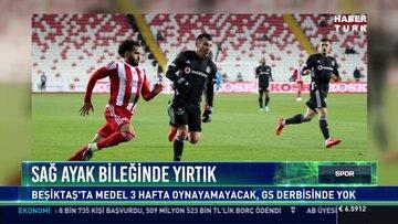 Sağ ayak bileğinde yırtık: Beşiktaş'ta Medel 3 hafta oynayamayacak, G5 derbisinde yok