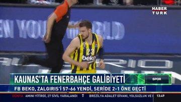 Kaunas'ta Fenerbahçe galibiyeti: FB Beko, Zalgırıs'i 57-66 yendi, seride 2-1 öne geçti
