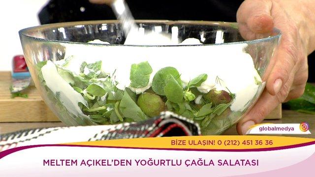 Yoğurtlu Çağla Salatası