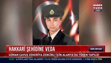 Hakkari şehidine veda: Uzman Çavuş Zekeriya Zencirli için Alanya'da tören yapıldı
