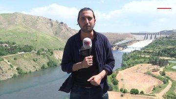 Keban Barajı'nda 15 yıl sonra tahliye kapakları açıldı