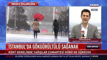 İstanbul'da gökgürültülü sağanak: Kent genelinde yağışlar cumartesi günü de sürecek