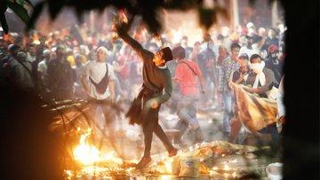 Endonezya'da seçim protestoları