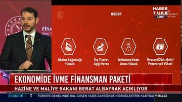 Ekonomide İvme Finansman paketi: Hazine ve Maliye Bakanı Berat Albayrak açıklıyor