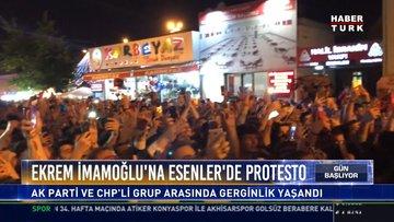 Ekrem İmamoğlu'na Esenler'de protesto: Ak Parti Ve CHP'li grup arasında gerginlik yaşandı