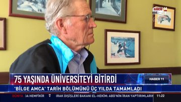 """75 yaşında üniversiteyi bitirdi: """"Bilge Amca"""" tarih bölümünü üç yılda tamamladı"""