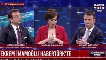 Ekrem İmamoğlu, Habertürk TV'de