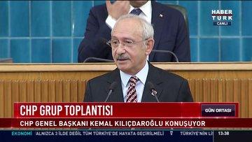 CHP Genel Başkanı Kemal Kılıçdaroğlu grup toplantısında konuştu