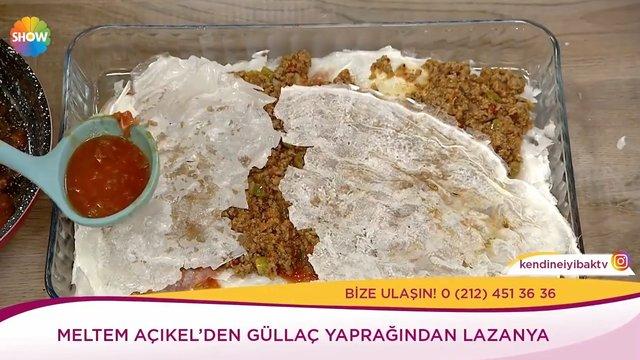 Güllaç Yaprağından Lazanya