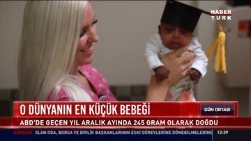O dünyanın en küçük bebeği: ABD'de geçen yıl aralık ayında 245 gram olarak doğdu