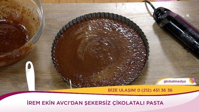 Şekersiz Çikolatalı Pasta