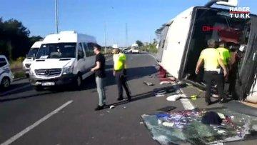 Son dakika: Ümraniye'de otomobil otobüse çarptı: Ölü ve yaralılar var!
