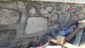Okul duvarından tarihi yazıt çıktı
