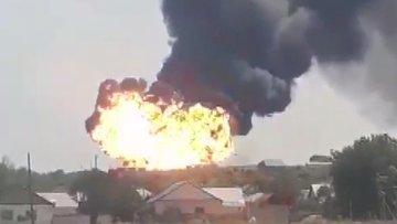Kazakistan'da yakıt tankı patladı!