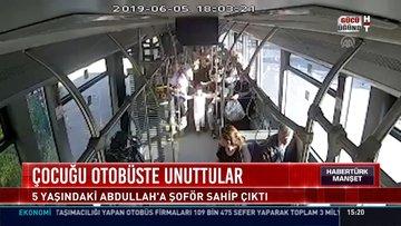 5 yaşındaki çocuğu otobüste unuttular!