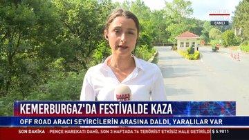 Kemerburgaz'da festivalde kaza