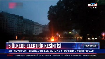 5 ülkede elektrik kesintisi