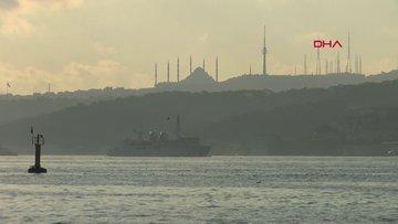 Fransa ve ABD askeri gemileri Boğaz'dan geçti