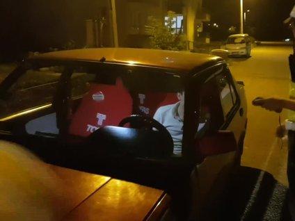Alkollü sürücüden polise ehliyet sitemi