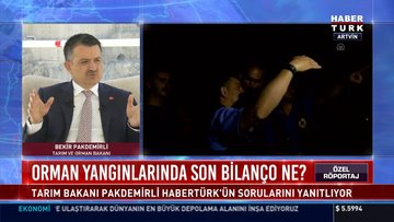 Tarım Bakan Bekir Pakdemirli Habertürk TV'de soruları yanıtladı!