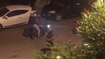 Etiler'de hırsızların kendilerini cep telefonuyla görüntüleyen adama ateş etme anı kamerada