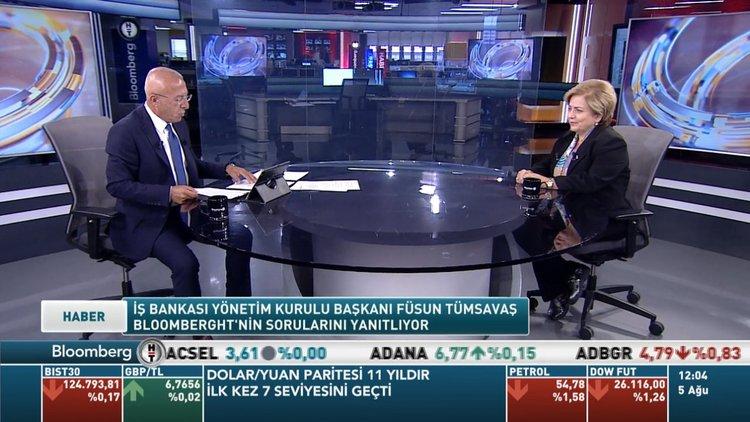İŞ Bankası YKB Füsun Tümsavaş soruları yanıtladı