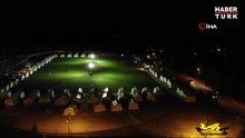 Depremzedeleri ilk geceyi çadır kentte geçiriyor... Çadır kent havadan görüntülendi