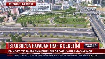 Helikopterle trafik denetimi başladı!