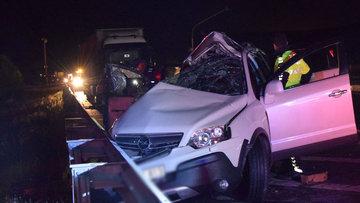 Konya'da feci kaza! Anne-oğul öldü, baba ağır yaralı
