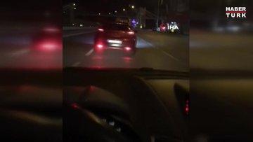 """İstanbul'da dehşete düşüren """"makas"""" terörü kamerada"""