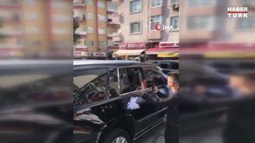 İstanbul'da düğün konvoyunda akılalmaz görüntüler kamerada