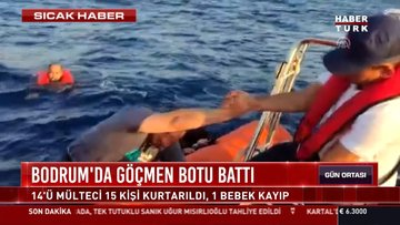 Bodrum'da göçmen botu battı