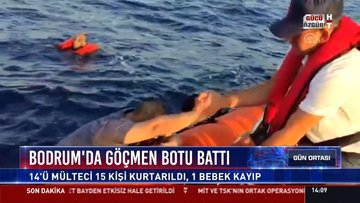 Göçmen botu battı! 1 bebek kayıp